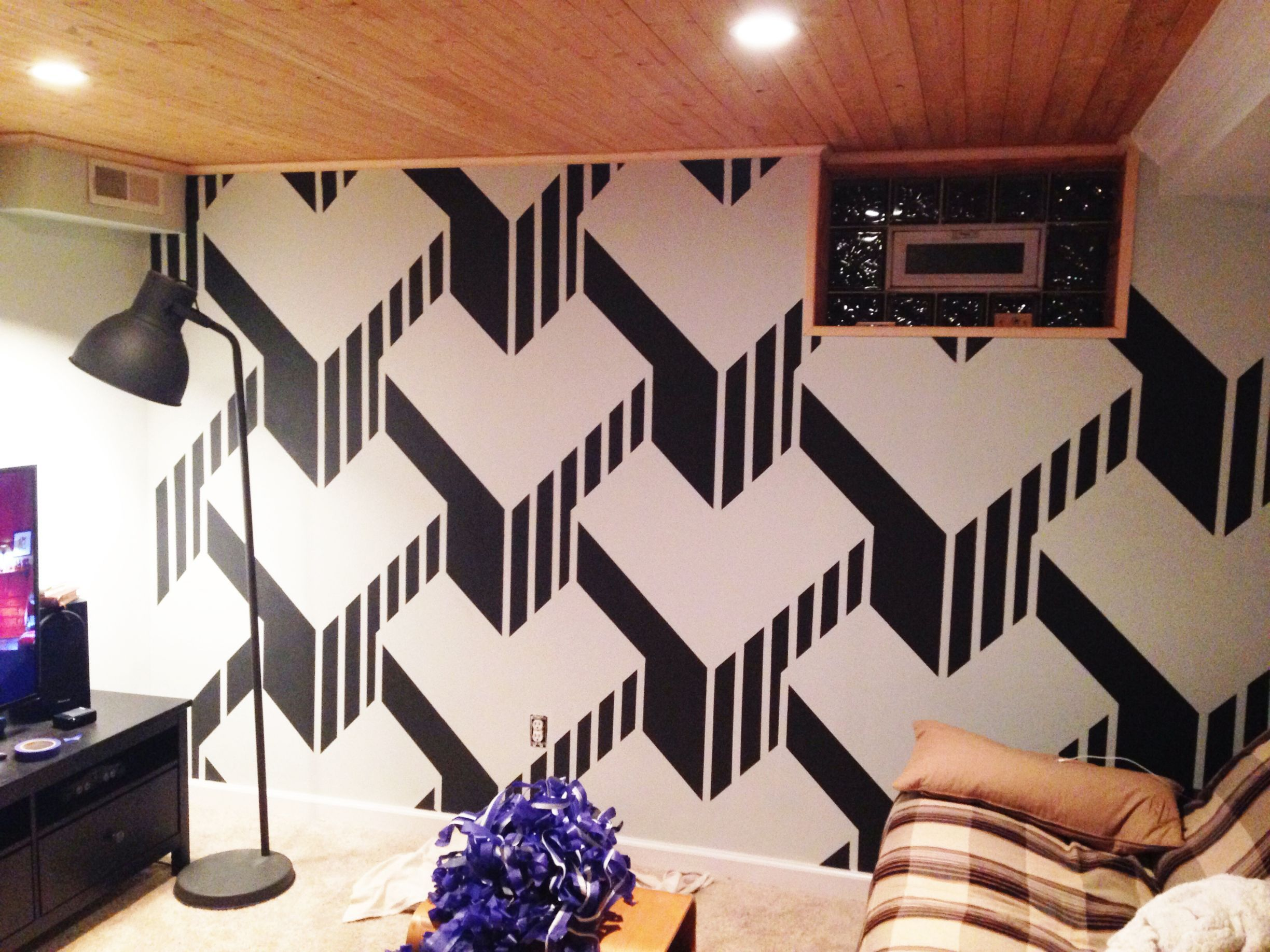 A Lot Of Tape Tape Wall Art Diy Wall Painting Tape Wall