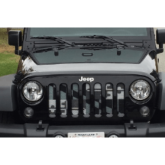 Maryland Flag Greyscale Jeep Grill Jeep Grill Jeep Custom