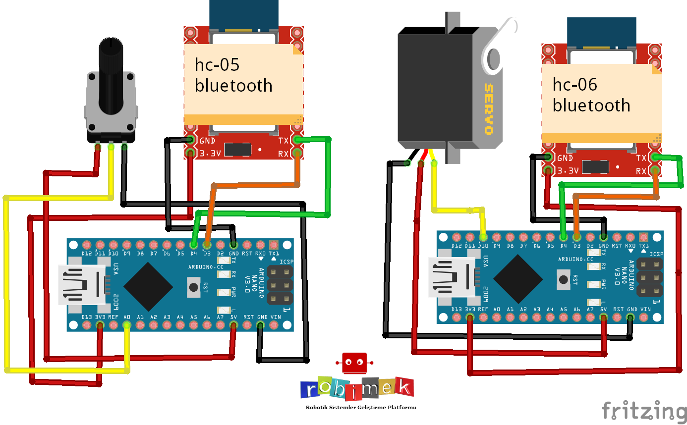 Something ordinary to drive the Servo Motor Control Over Bluetooth with the  potentiometer.But we