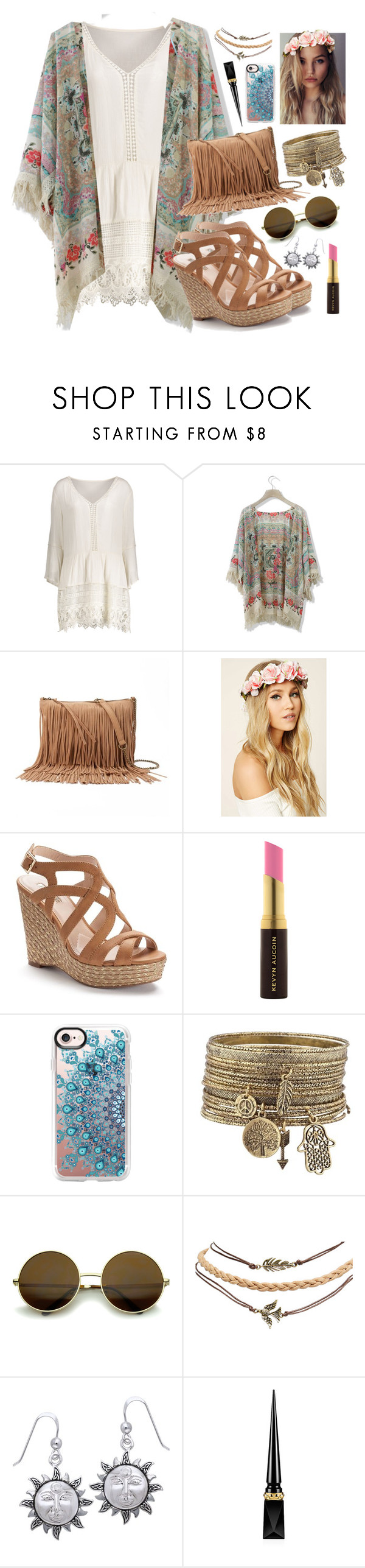 """""""Festival Fashion"""" by countless-possibilities ❤ liked on Polyvore featuring Chicwish, SONOMA Goods for Life, Forever 21, Jennifer Lopez, Kevyn Aucoin, Casetify, Wet Seal, Carolina Glamour Collection and Christian Louboutin"""