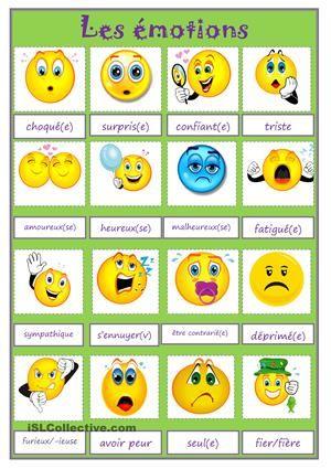 Extrem EMOTIONS fiche d'exercices - Fiches pédagogiques gratuites FLE  IB18