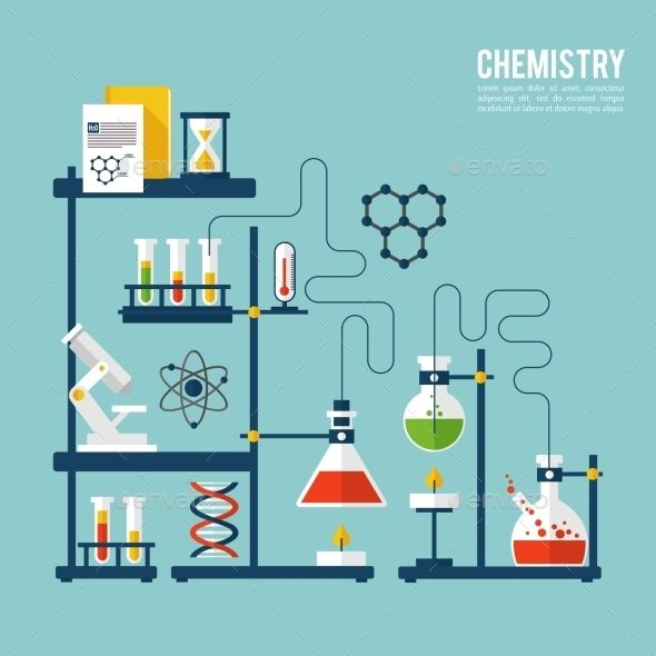 Chemistry Background Template Chemistry Background Templates Vector Illustration