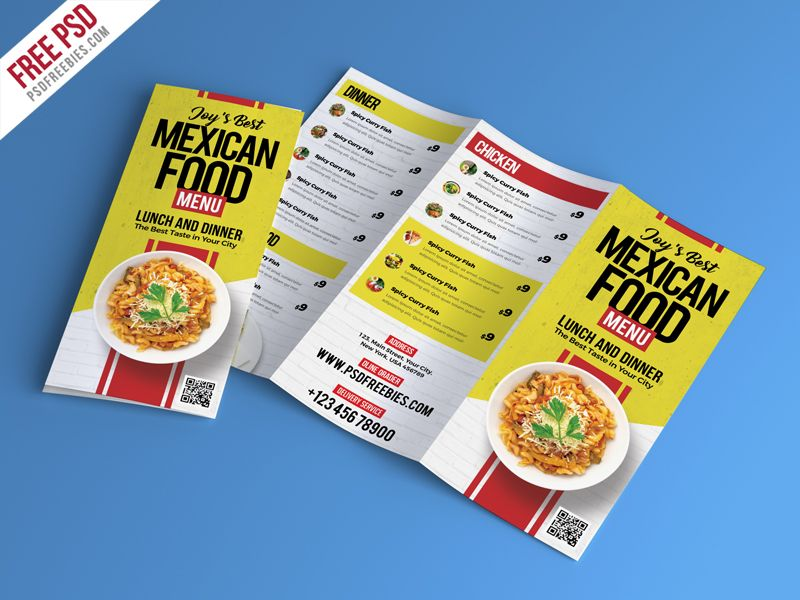 Food Restaurant Menu Brochure Psd  Brochures Adobe And Print
