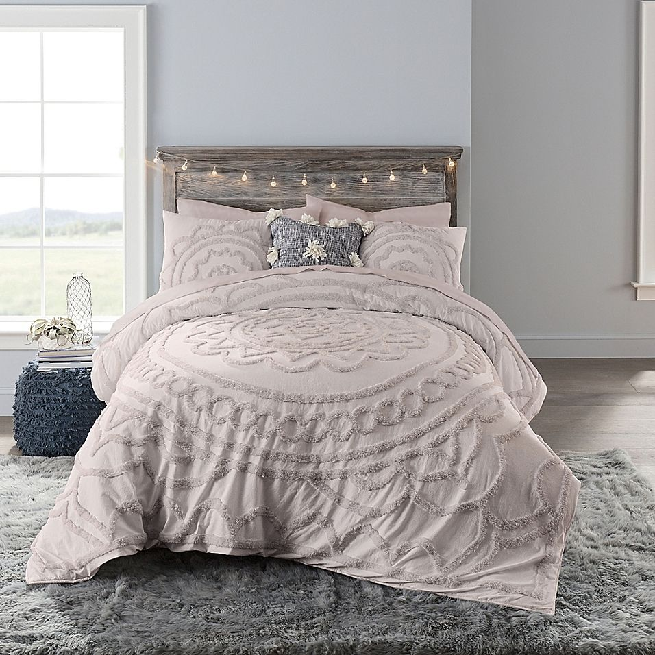 Anthology Tufted Medallion Twin Xl Comforter Set In Mauve In 2020