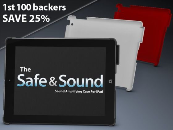 Safe & Sound - Sound Amplifying Case For iPad 2 & 3 by John Swanson, via Kickstarter.