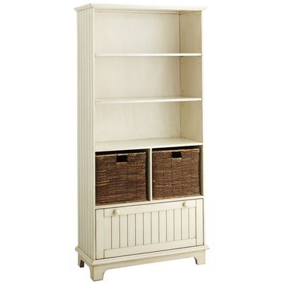 Holtom Bookcase - Antique White...Place on each side of the french doors to  the play area, add decorative molding in a triangle at the top, ... - Holtom Bookcase - Antique White...Place On Each Side Of The French
