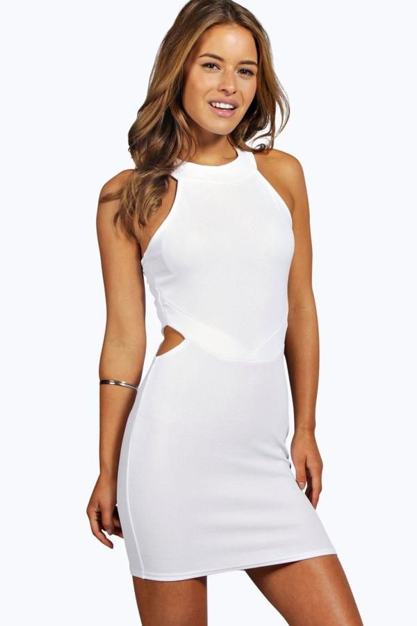 bf1743a7dc9f Petite Leanna Cut Out High Neck Bodycon Dress | Products | Dresses ...