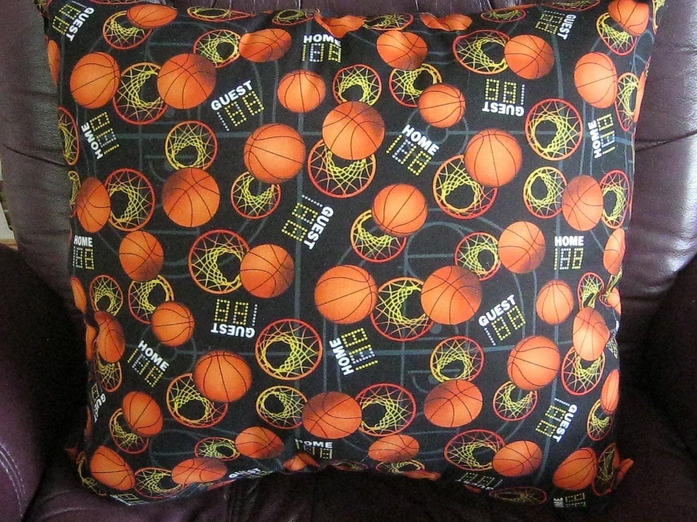 Basketball print pillow by 12dozen on etsy printed
