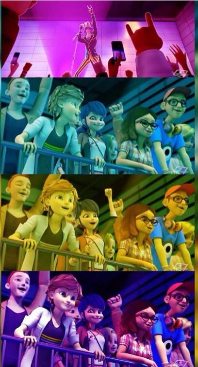 Look how happy Adrian and marinette are! ><
