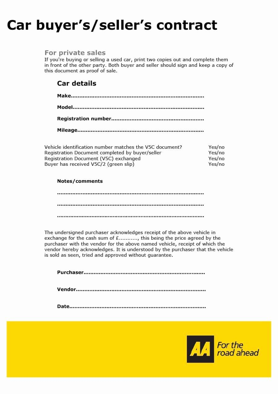 40 Printable Vehicle Purchase Agreement In 2020 Car Purchase