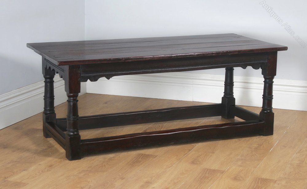 "f45401179f79 Charles II 6ft 3"" Solid Oak Refectory Dining Table - Antiques Atlas"