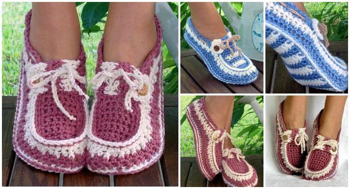 Crochet-Adult-Button-Loafers #diycraft #crochet