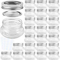 ea9867a1f3aa KAMOTA Mason Jars 4OZ With Regular Silver Lids and Bands, Ideal for ...