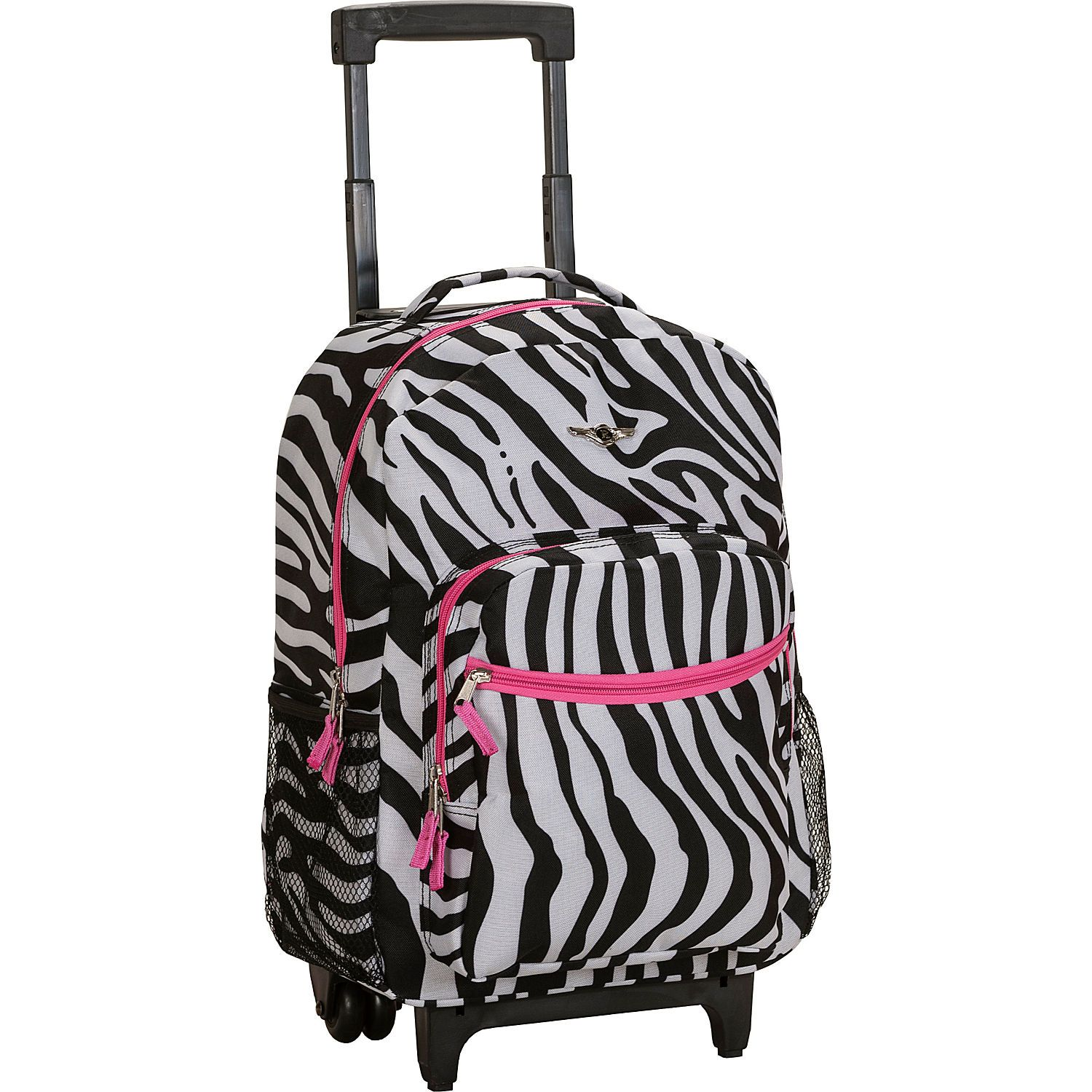 Pink Zebra Rockland Rolling Backpack | Back To School | Pinterest ...