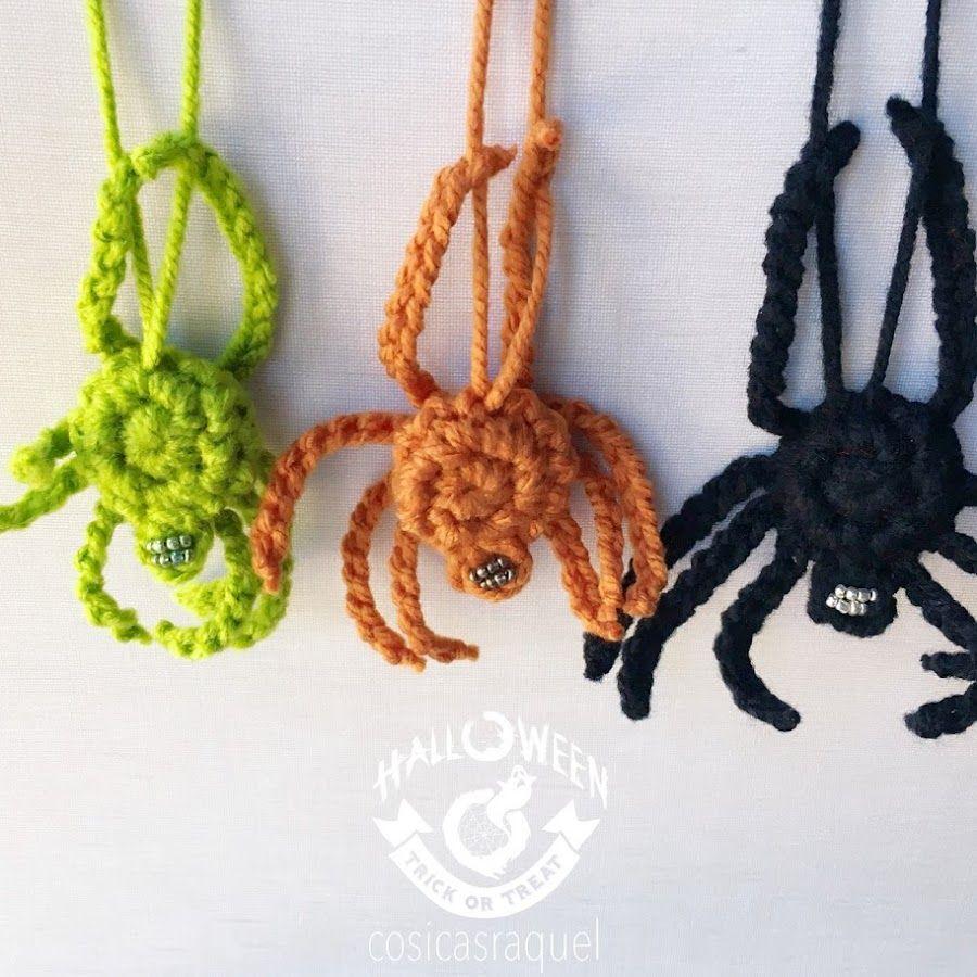 Patrón araña de crochet para Halloween   Manualidades   Halloween ...