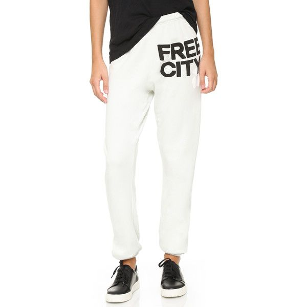 Freecity Feather Weight Sweatpants 125 Liked On Polyvore Featuring Activewear Activewear Pants Silvercloud Sweatpants Active Wear Pants Clothes Design