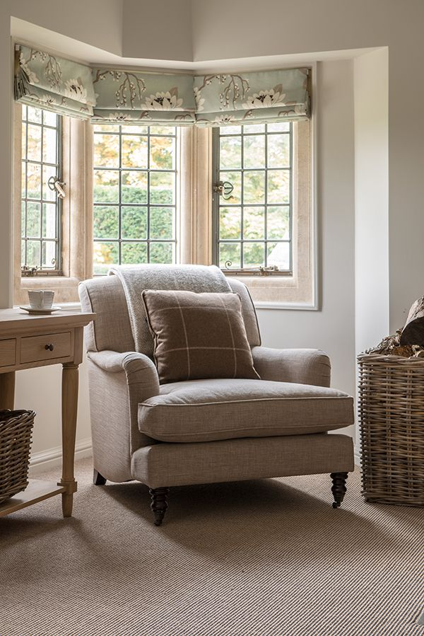 Olivia armchair neptune armchair - Living room with bay window ...