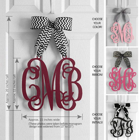 Personalized Monogram Door Hanger - Motheru0027s Day Gifts - Hanging Monogram Initials - Door Sign -  sc 1 st  Pinterest & Personalized Monogram Door Hanger - Motheru0027s Day Gifts - Hanging ... pezcame.com