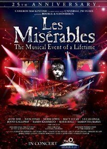 le miserable 25th anniversary dvd