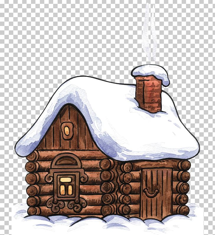 Log Cabin Cottage Drawing Png Clipart Christmas Art Winter Clipart Clip Art