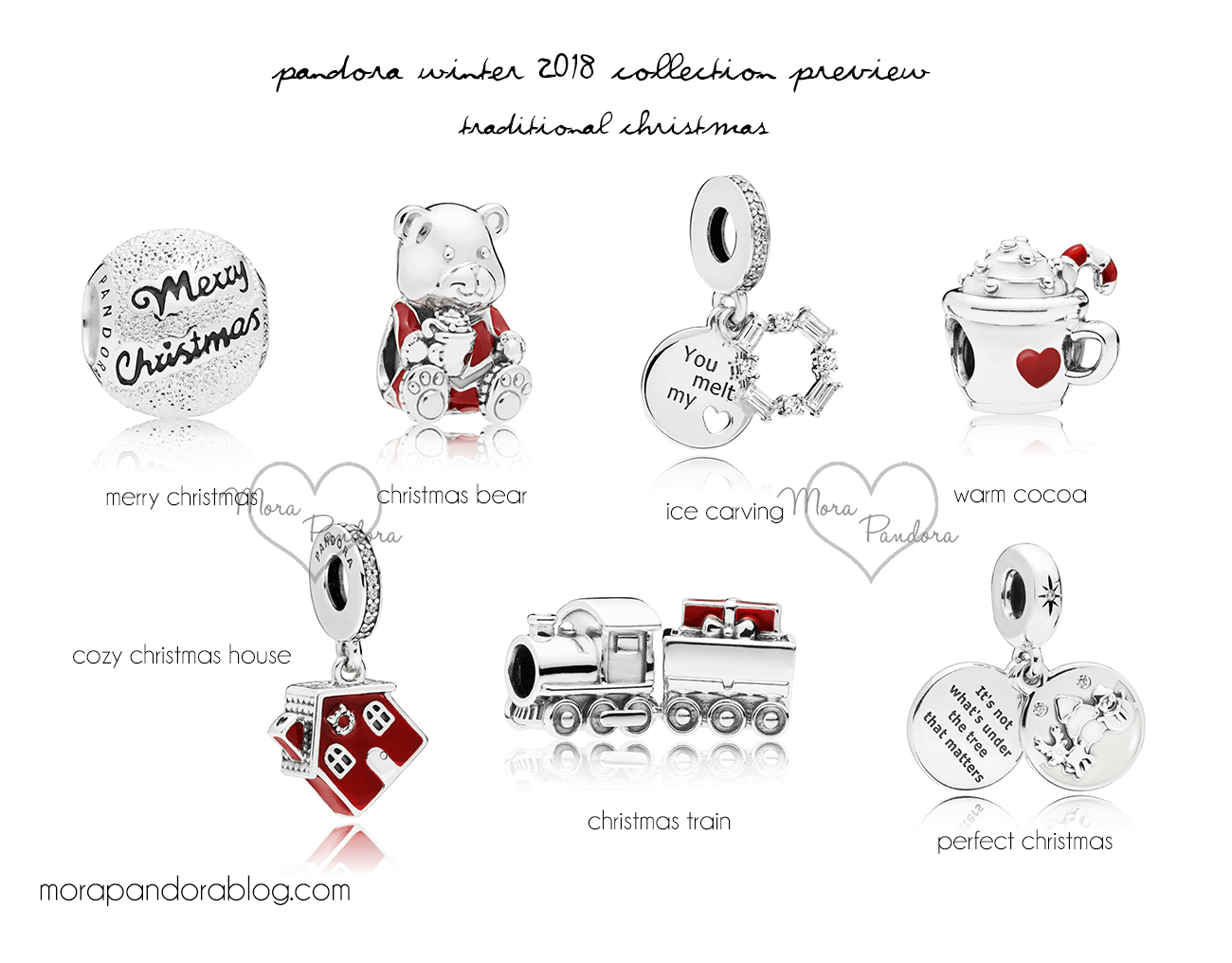 34c1c655e Pandora Winter Collection- November 1, 2018 - Warm Cocoa €39, Cozy Christmas  House, Christmas Train €69