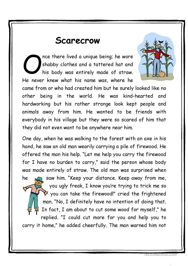 - Think Tales 4 ( The Scarecrow) (With Images) Reading