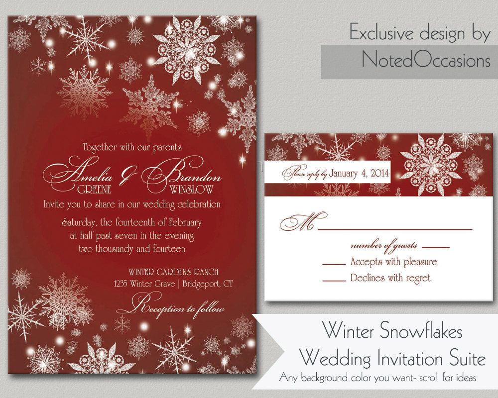 Snowflake+Winter+Wedding+Invitations++Beautiful+by+NotedOccasions,+$ ...