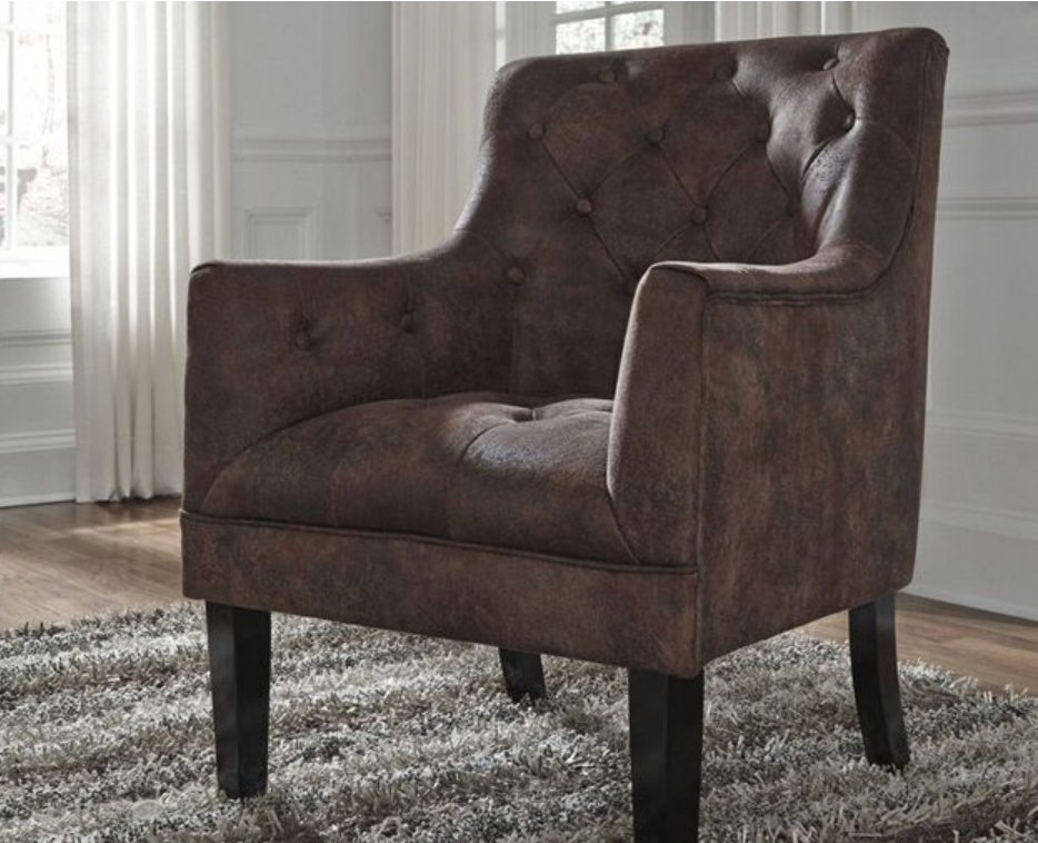 FREE SHIPPING! Drakelle Mahogany Accent Chair in 2020