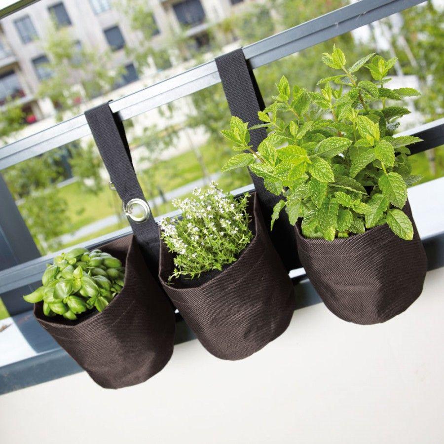 Plantes Aromatiques En Jardinière pots de fleurs en tissu pour plantes aromatiques