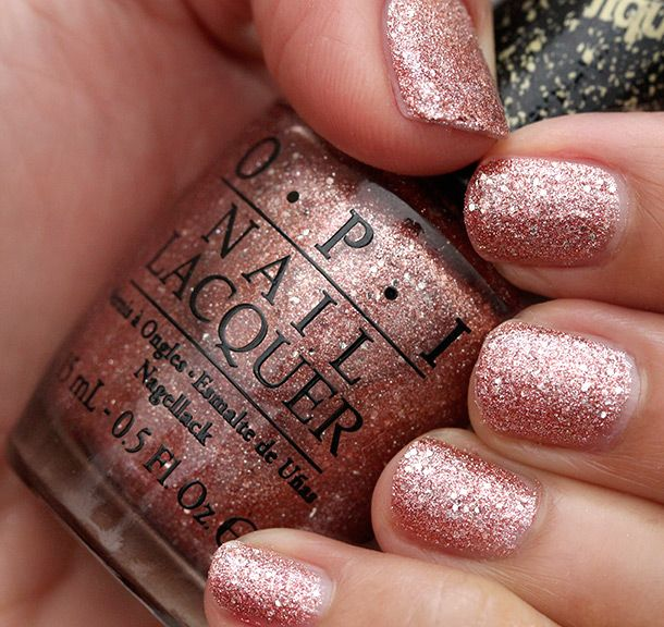 Rose Gold Nail Glitter: #EssentialBeautySwatches