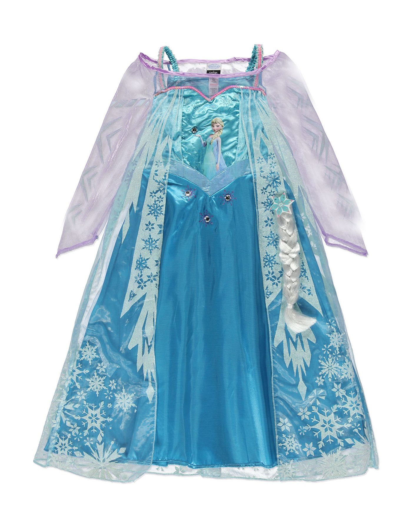 Fingerless gloves asda - Elsa Fancy Dress Costume Girls George At Asda