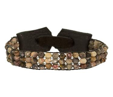 sand-rock-stone colored agate beads bracelet by Stormie