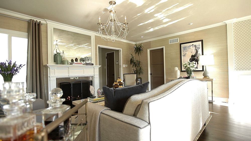 jeff lewis design love the aged mirror above the fireplace - Jeff Lewis Design Wallpaper