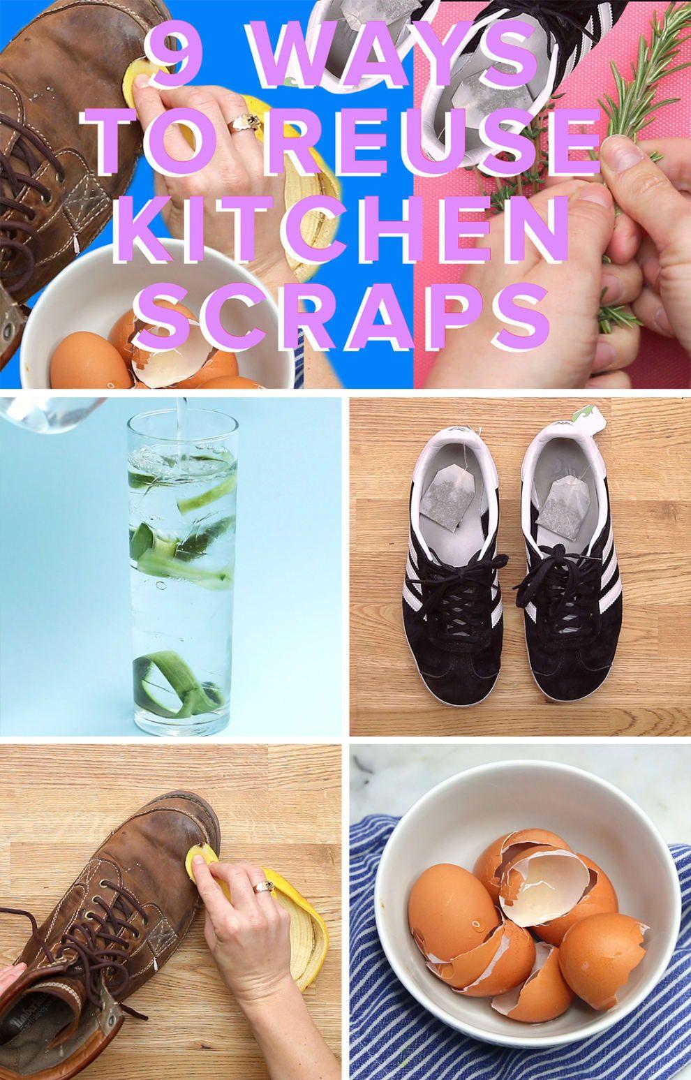9 Genius Ways To Reuse Kitchen Scraps Reuse, Diy