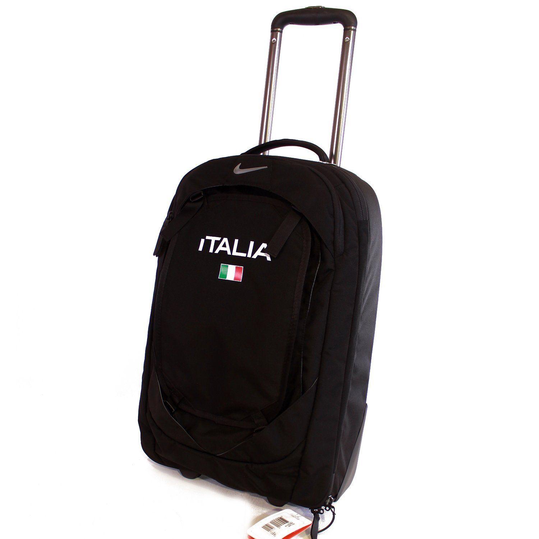 Nike Holdall Suitcase Travel Luggage Black Italia Sports