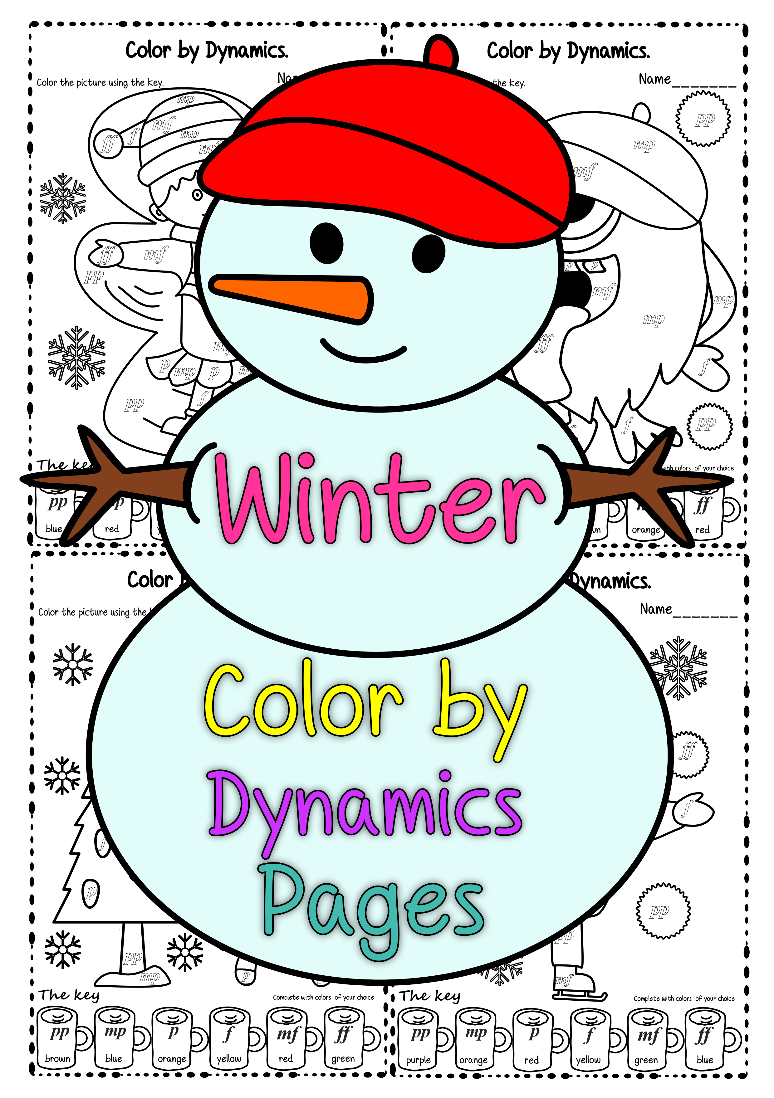 Winter Color By Dynamics Pages
