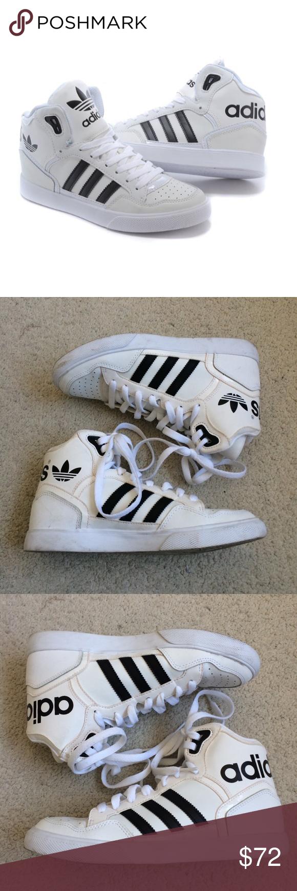 Adidas Classico Bianco da E Nero Di Scarpe da Bianco Ginnastica Alte Bianco Alta 84ad44
