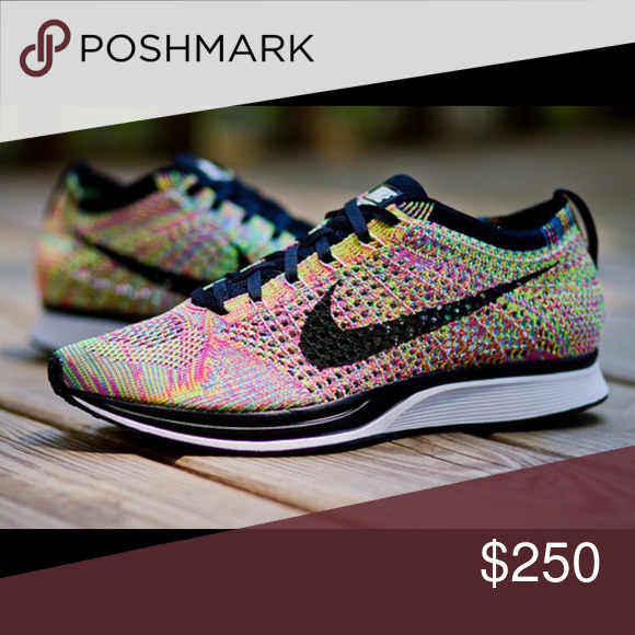 NIKE FLYKNIT RACER MULTICOLOR 3.0 7.5 men's/ 9 women DS, never worn, NIB, sold out everywhere. Nike Shoes Sneakers