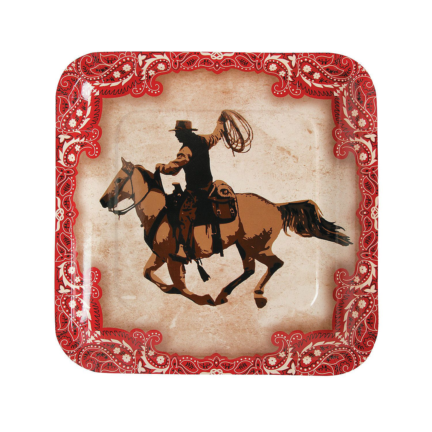 Western Paper Dinner Plates  sc 1 st  Pinterest & Western Paper Dinner Plates | Westerns Cowboy birthday and Western ...