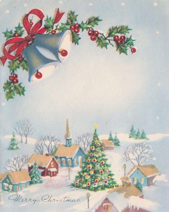 Christmas night vintage cards Pinterest Christmas, Vintage