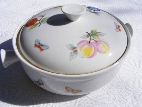 Oven To Table Cookware FRUIT Round Casserole By Violetsandgrace