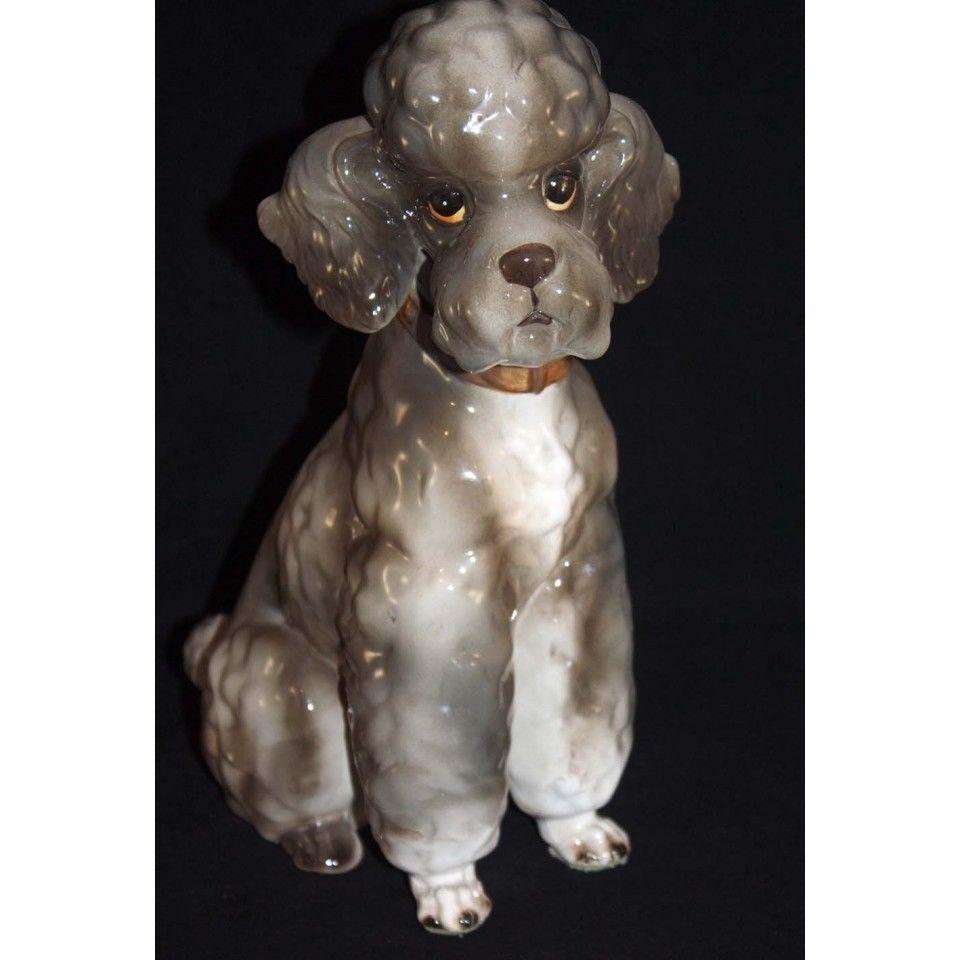 Vintage Shafford Japan Kennel Club Topsy Large Poodle Dog