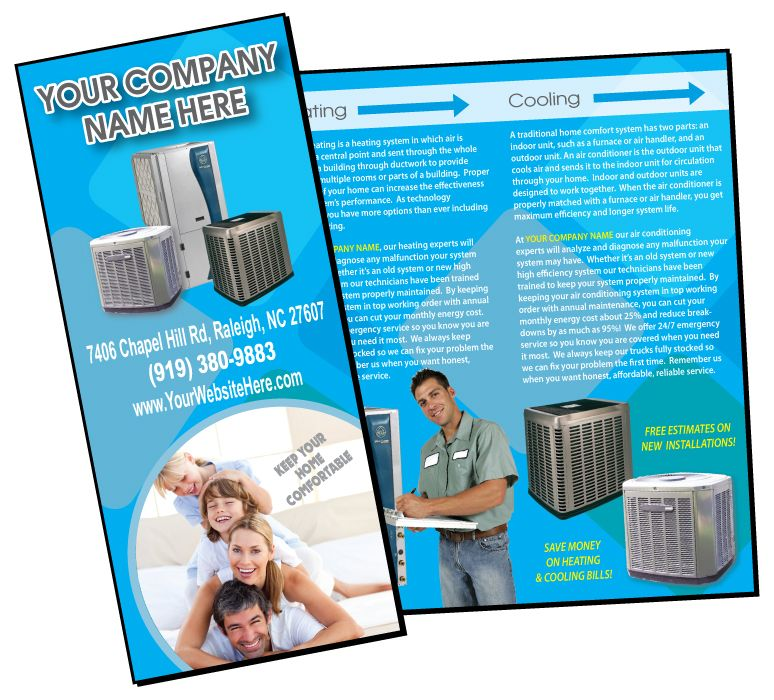 Heating \ Air Conditioning Business Brochure , HVAC Brochure - services brochure