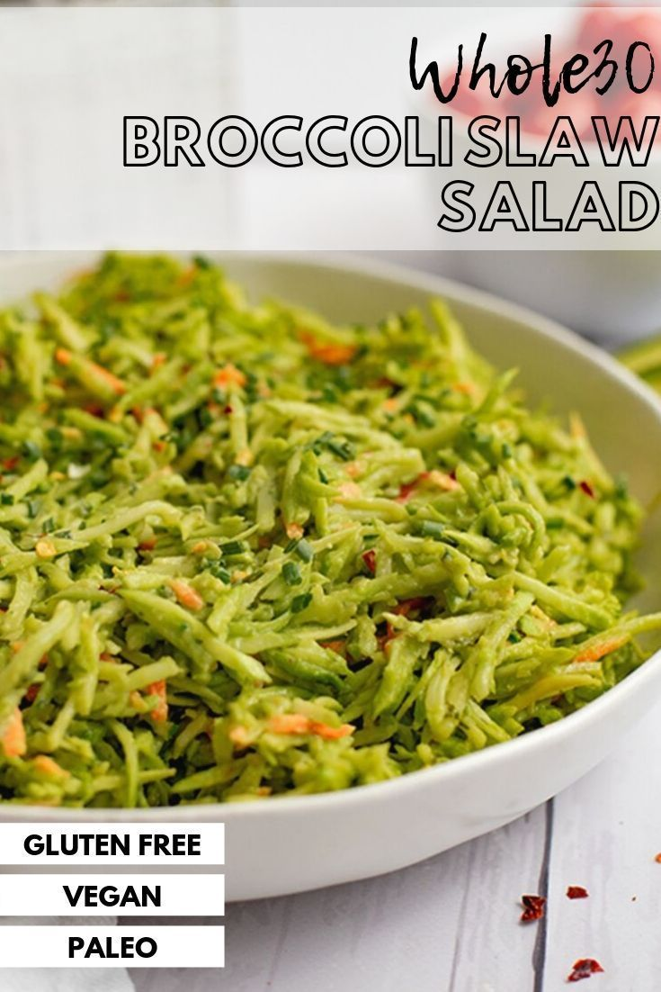 Broccoli Slaw Salad with Avocado Ranch Dressing is a simple healthy recipe that can be made in under 5 minutes! This recipe is vegan, gluten free, grain free, paleo, low carb, keto and Whole30 friendly! Perfect for lunch or dinner and can be served with your favorite protein for a quick and easy meal! Perfect for parties and cookouts too! #avocadoranch Broccoli Slaw Salad with Avocado Ranch Dressing is a simple healthy recipe that can be made in under 5 minutes! This recipe is vegan, gluten free #avocadoranch