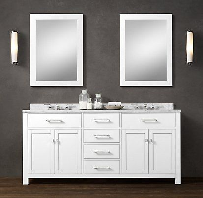 Hutton Vanity Bath Collection   White Polished Nickel