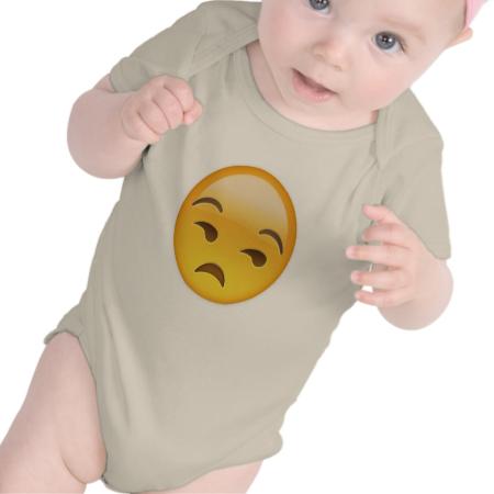 Unamused Face Emoji Baby Creeper Baby Creeper Baby Bodysuit Baby Onesies