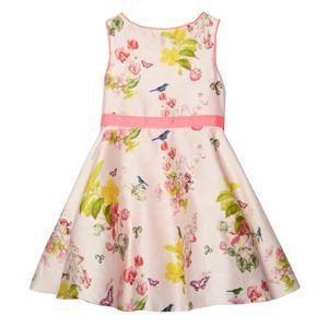 Baker by Ted Baker Girl's pale pink floral strawberry pattern full skirt dress- at Debenhams Mobile