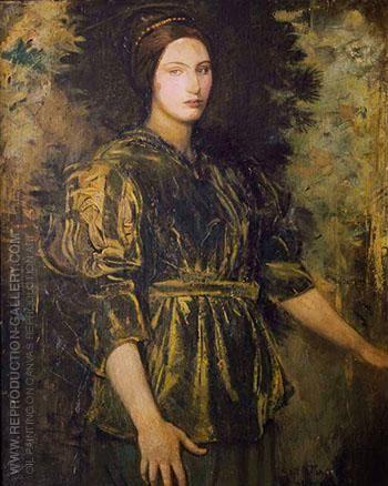 Woman in Green Velvet - Abbott H. Thayer | Portraiture painting, Art paintings for sale, Famous art paintings