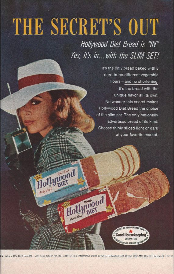 Color Hollywood Diet Bread Ad From By Victorianwardrobe