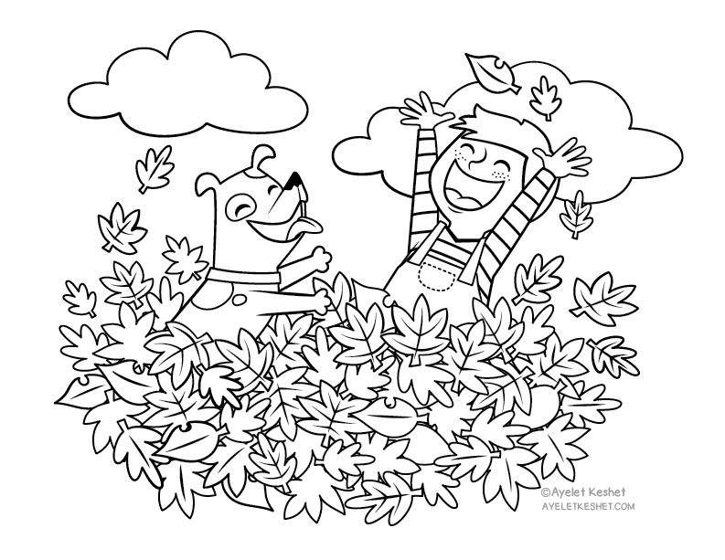 Autumn Coloring Pages For Kids With Heart Warming Illustrations Fall Coloring Pages Coloring Pages Coloring Pages For Boys